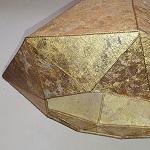 Véritables copeaux de laiton sur suspension diamant | Jade Création, fabricant d'abat-jour