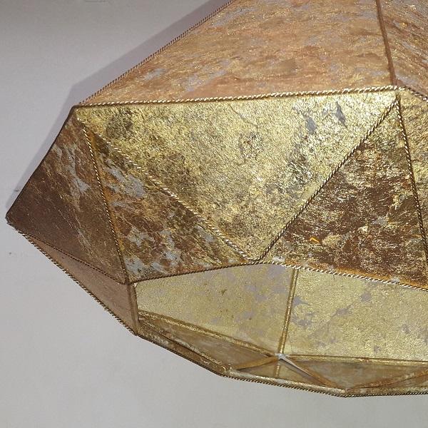 abat jour sur mesure suspension diamant or d tail 600x600 fabrication d 39 abat jour sur mesure. Black Bedroom Furniture Sets. Home Design Ideas