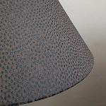 Soie brodée sur abat-jour cône | Abat-jour sur mesure Jade Création