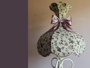 Abat-jour romantique tulipe pour décor campagne chic | Jade Création, fabricant abat-jour