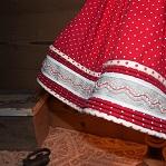 Galon passepoil sur abat-jour juponné style montagne | Jade Création, abat-jour sur mesure