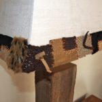 Abat-jour sur mesure en velour texturé pour lampe chalet design ambiance montagne