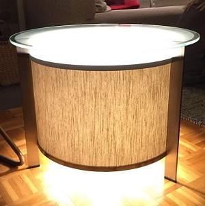 Table lumineuse, abat-jour lin | Jade Création
