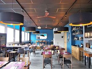 abatjour xxl-grand-restaurant-noir-cuivre-Geneve-Suisse-Jade creation