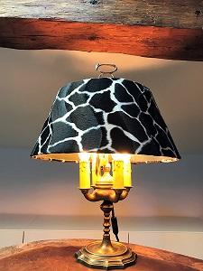 abat jour sur mesure-girafe-lampe bouillote-jade creation