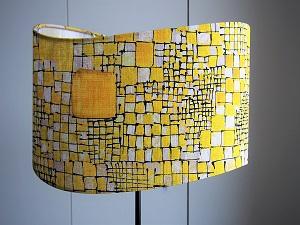 abajour jaune design graphique jade creation