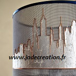 Abat-jour sur mesure-New York-skyline-design-aluminium-haute savoie-Geneve-Jade creation-150x150