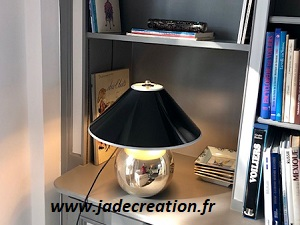 Abat jour-noir-brillant-laque-jade creation