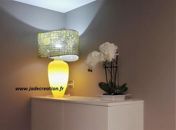 abat jour vague-ovale-jaune-lalie design-jade creation