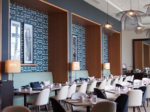 restaurant-hilton-abat jour-jade creation-raphia