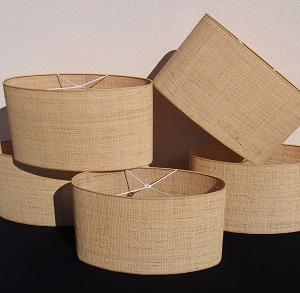Abat-jour ovale sur mesure en raphia Jade Creation