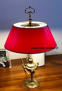 lampe bouillotte-rouge-brillant-pvc-jadecreation-geneve-suisse-200x300