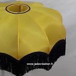 Dôme parapluie jaune à franges noire Jade Création